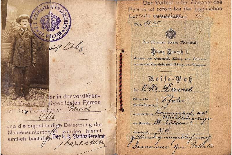 پاسپورت ها در جنگ جهانی اول