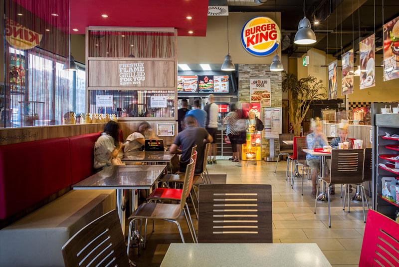 رستوران های برگر کینگ