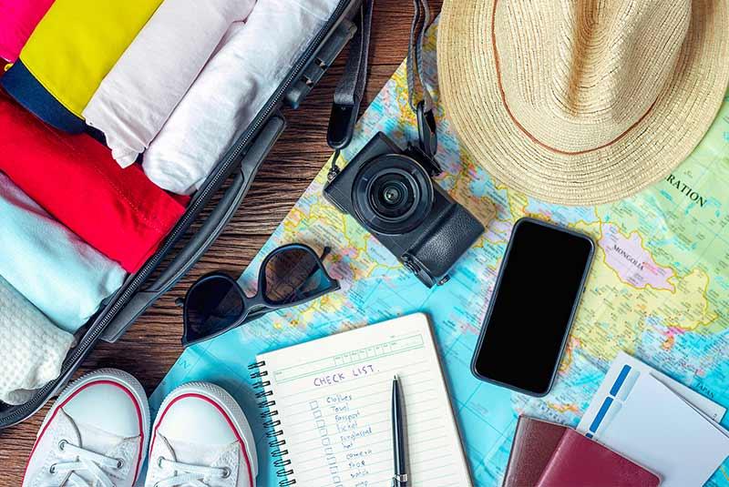 چک لیستی برای بستن چمدان