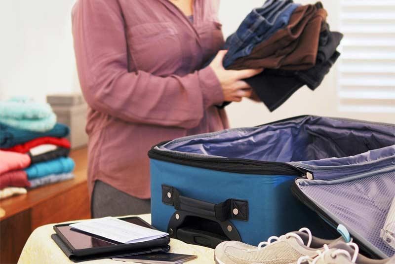 نحوه بستن چمدان برای سفر