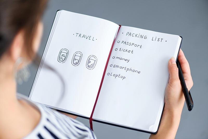 چک لیست سفر به اروپا